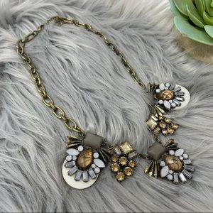 Costume Jeweled Champagne Statement Necklace